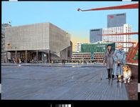 2005-414 Gezicht op het Schouwburgplein. Links de bioscoop van Pathé. Op de achtergrond de Doelen.