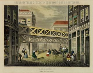 2006-772 De Hoogstraat met de geprojecteerde Staatsspoorweg.