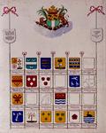 BP-149-40A Wapenkaart naar een eigenhandige opgaaf van Hartman de Custer, in leven notaris en kamerbewaarder van de ...