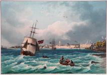 III-112-01 Vue de la ville de Rotterdam [vermeld als `gegeven', aangezien de titel niet op de prent vermeld wordt]. ...