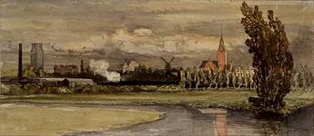 III-146 Gezicht op de stad uit het noorden, rechts de Provenierskerk (Kerk van O.L. Vrouw Koningin van de H.H. Rozenkrans).