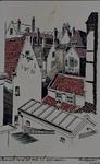III-168-01 Gezicht op het dakencomplex, gezien van de Coolsingel.
