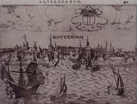 III-17 Gezicht op de stad vanaf de Nieuwe Maas. Rechs boven de afbeelding: 432.