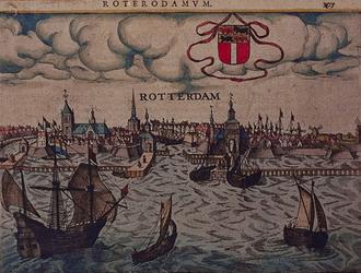 III-18 Gezicht op de stad vanaf de Nieuwe Maas. Rechts boven de afbeelding: 307.