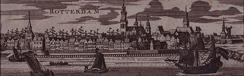 III-30 Gezicht op het oostelijk deel van de stad over de Nieuwe Maas. Links de mond van de Oudehaven met de ...