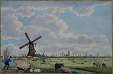 III-78 Gezicht op Rotterdam vanaf de Rotterdamse Schie (polder Blijdorp) (c. 1781)