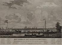 III-79 Gezicht op Rotterdam, gezien uit westelijke richting vanaf de Delfshavense Schie. Op de voorgrond de ...