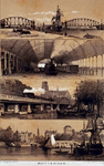 IV-16-2 Stadsgezichten:Brug over de Noorderhaven (na 21 mei 1874 Koningshaven), Nieuwe spoorwegstation, Kolk en Leuvehaven.