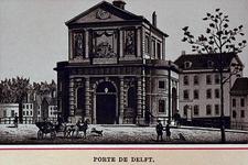 IV-28-11 Gezicht op de Delftse Poort aan de Coolsingel bij het Slagveld.