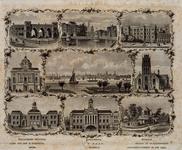 IV-7 Rotterdam: 9 stadsgezichten (van links naar rechts)Boven: Hollandsche spoorweg (Station D.P.), Koningsbrug en ...