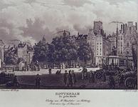 IX-1079 `ROTTERDAM. De grote Markt'. Gezicht op de Grotemarkt uit zuidoostelijke richting. Rechts het standbeeld van ...
