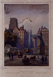 IX-1081 Standbeeld van Erasmus op de Grotemarkt.