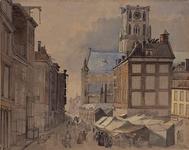 IX-1503-01 Gezicht op de Kaasmarkt uit het oosten, ter hoogte van de Lombardstraat.
