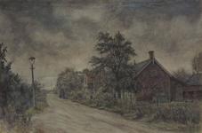 IX-1603-02 Gezicht op het einde van de Korperweg bij de Schulpweg, uit het westen.