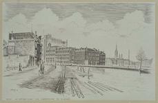 IX-1822 Gezicht van de Rechter Rottekade naar de Linker Rottekade bij de Hofdijk, uit het zuidwesten.