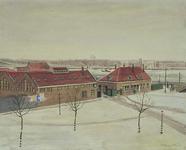 IX-1826-2 Gezicht op de Linker Veerdam, uit het zuidoosten.