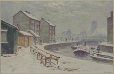 IX-1835-06 Gezicht op de Lombardkade en het Stokviswater vanaf de Admiraal de Ruyterweg, uit het noorden.