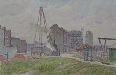 IX-1835-12 Gezicht op de Lombardkade en omgeving bij de Kortebrantstraat, uit het noorden.