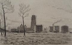 IX-1955-08 Gezicht op de Meent en omgeving vanaf het Hofplein.