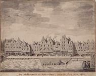 IX-1965 De Melkmarkt te Rotterdam, omstreeks het jaar 1680.