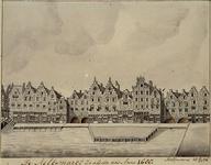 IX-1966 De Melkmarkt zoals die was in 1680.