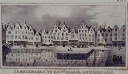 IX-1969 De Melkmarkt bij de Boerenvismarkt.