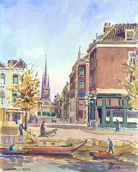 IX-2328 Vanaf de Rotte, gezicht in de Oudaenstraat.