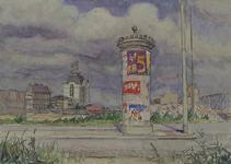 IX-2638 Gezicht op de Rederijstraat met verwoeste omgeving, links de gespaarde huizen aan de Wijnhaven en rechts de ...