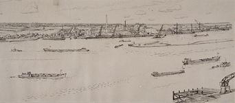 IX-2747-05-18-16 Gezicht van de watertoren IJsselmonde op de Schaardijk-IJsseldijk met de A.S.F. en het daarachter ...