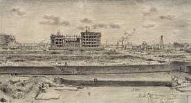 IX-278 Rotterdam juni 1947. Nieuwbouw Nederlandse Handelmaatschappij aan de Blaak Chris Schut M.F. vanuit het noorden.