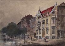 IX-2828 Gezicht op de oostzijde van de Schiekade bij het Hofplein, uit het zuidwesten.