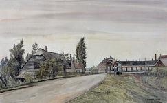IX-2938 Gezicht op de Smeetslandsedijk met kruising trambaan.