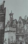 IX-3244-03-04 Voorstraat met het zakkendragershuisje in restauratie.