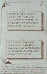 IX-342 Twee gedenkstenen gevonden in de kademuur. Met de opschriften steen A: in de kademuur aan de Boompjes in 1827 ...