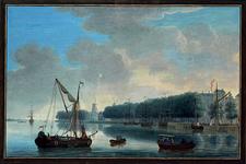 IX-343-2 Nieuwe Maas met op de achtergrond Boompjes, Bolwerk en mond Oudehaven.