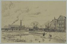 IX-3537 De Zomerhofstraat in de verwoeste omgeving, gezien uit het noorden. Rechts huizen (achterzijde) aan de ...