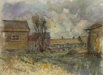 IX-550-00-14-24 Barendrecht - SmitshoekCharloisse Lagedijk, bij Smitshoek, gezien uit het noordwesten. De huizen rechts ...