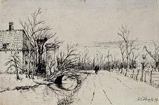 IX-686 De Crooswijkseweg met de poort van de hofstede 't Paradijs.