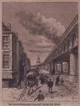 IX-855 De spoorwegbrugviaduct, door de stad, gezien vanaf de Gedempte Binnenrotte.