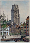 IX-99 Bij de Bagijnenhofstraat, met op de achtergrond de Sint Laurenstoren.