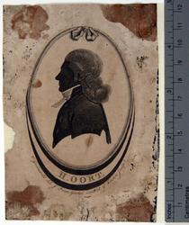 P-020699 Silhouet van Henricus Oort, Nederlands Hervormd predikant.