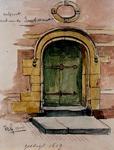 RI-1050-1 Poort van de Vleeshal in de Lombardstraat.