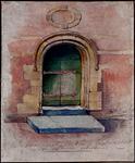 RI-1050-2 Poort van de Vleeshal in de Lombardstraat.