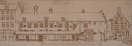 RI-1077 Het Zakkendragershuisje aan de zuidzijde van de Nieuwemarkt.