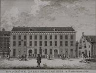 RI-1078 Het nieuwe Zakkendragershuis te Rotterdam in 1760.