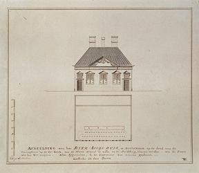 RI-1086 Het Bieraccijnshuis aan het Grotekerkplein bij de Sint Laurensstraat, hoek westzijde.