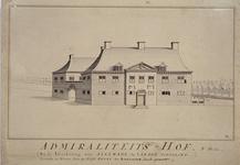 RI-1089 Het Admiraliteitshof - later het Zeekantoor - aan de Spaansekade bij het Haringvliet.