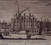 RI-1091 Gezicht op het Haringvliet met het Amiraliteitshof.
