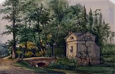 RI-1096 Het Portiershuis met het hek van de Begraafplaats.