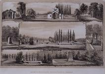 RI-1097 Gezicht op de Algemene Burgerlijke Begraafplaats in Crooswijk.8 afbeeldingen op 1 blad.